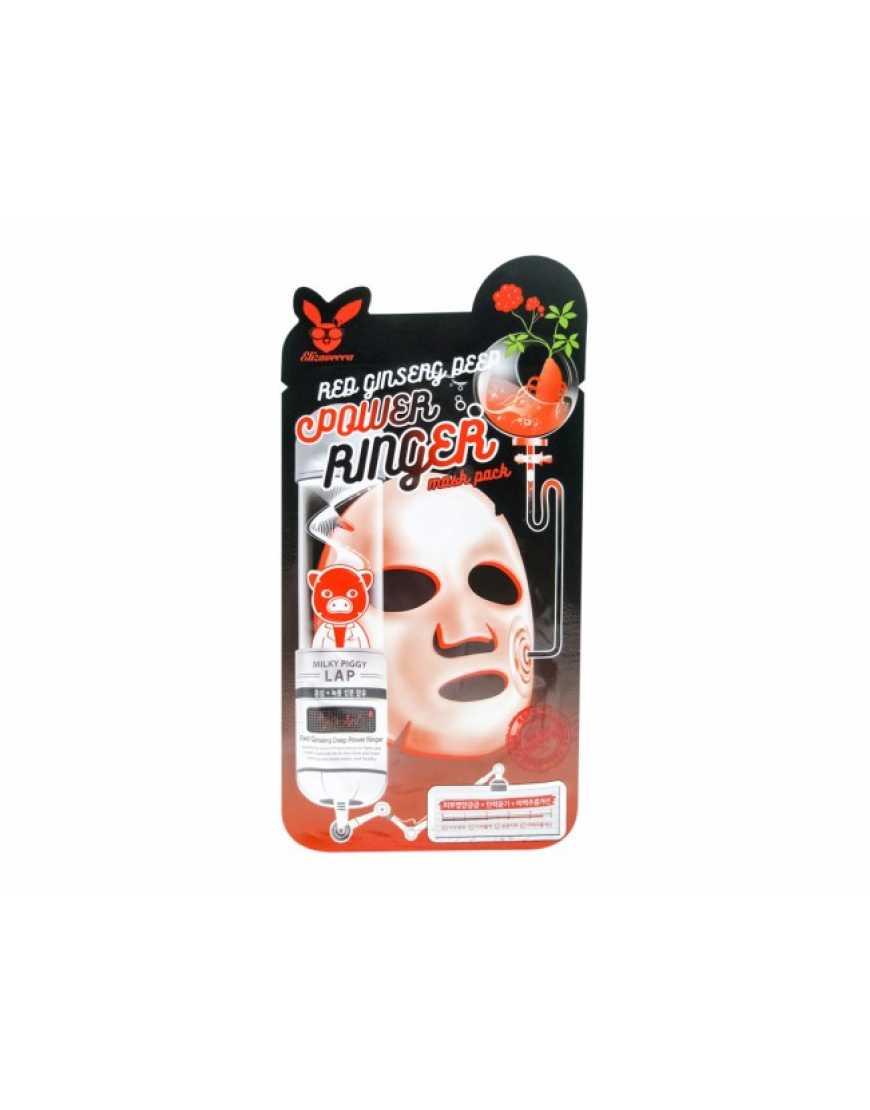 Elizavecca Red gInseng Deep Power Ringer mask pack Тканевая  маска для лица с красным женьшенем, 23 мл