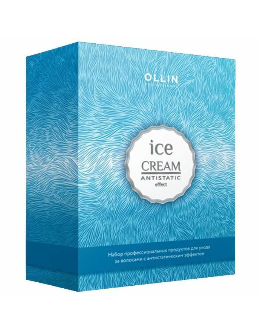 Набор OLLIN Ice Cream (шампунь 250 мл, спрей-кондиционер 250 мл, спонж)