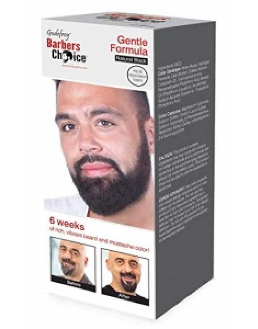 Godefroy Камуфляж бороды и усов Barbers Choice Natural Black, 80 капсул