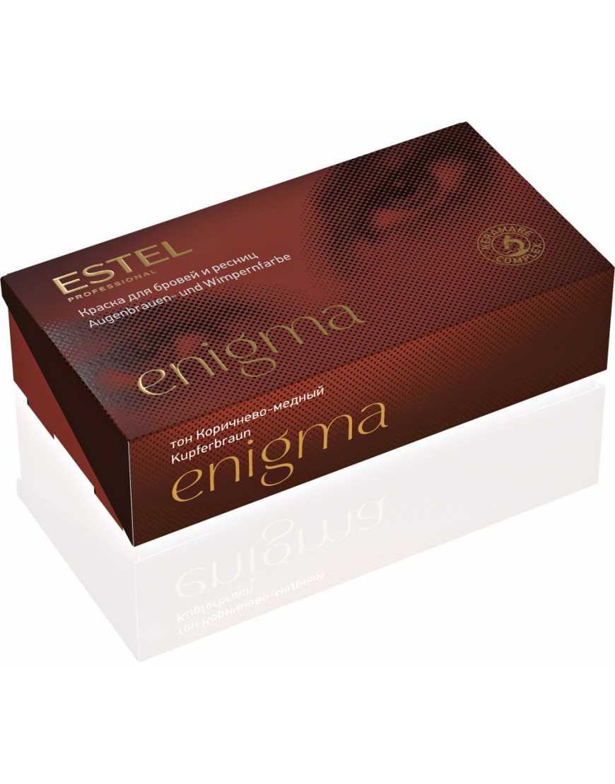 ESTEL Enigma Краска для бровей и ресниц коричнево- медный (набор)