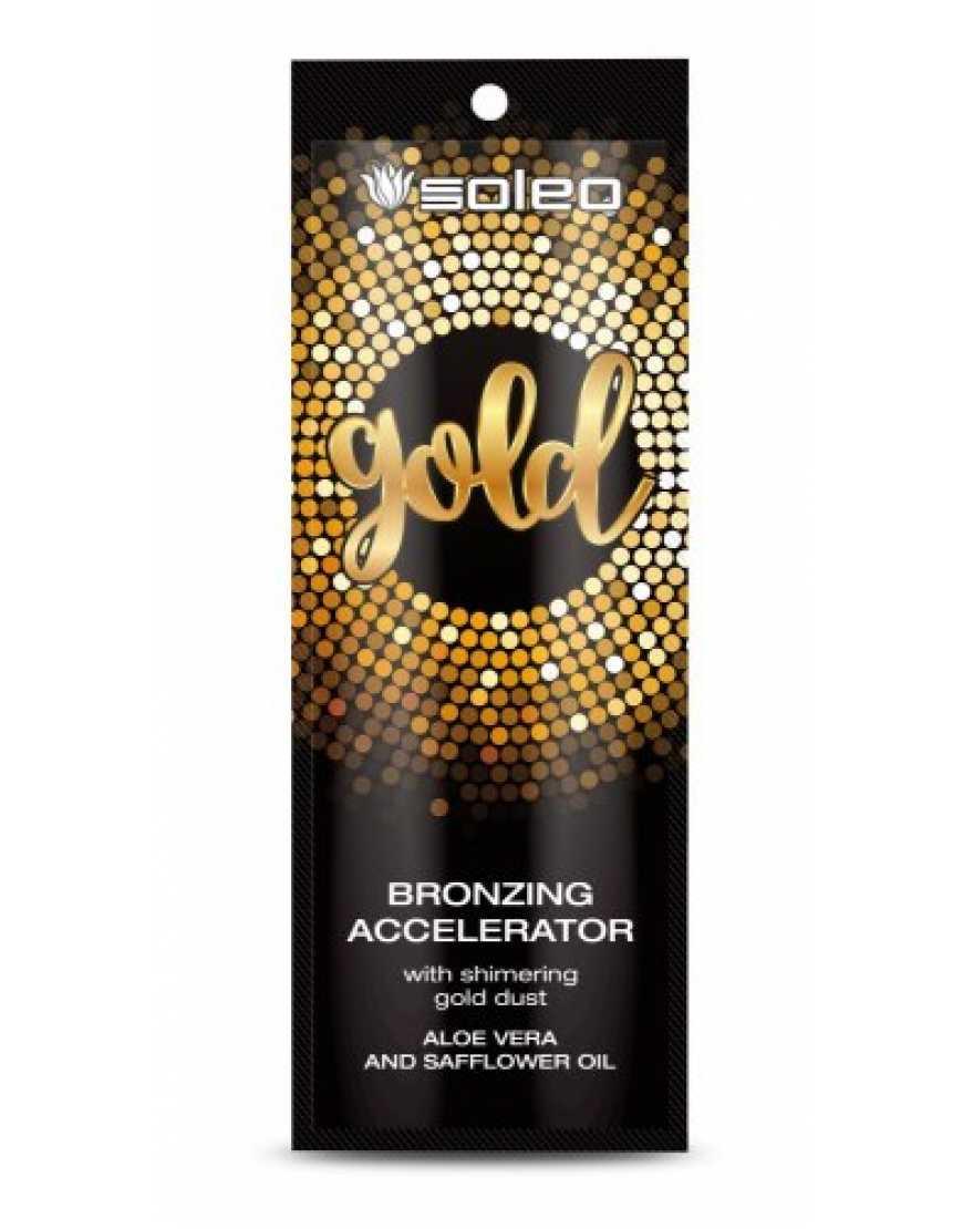 Интенсивный ускоритель загара Soleo Gold с золотыми частицами, 15 мл