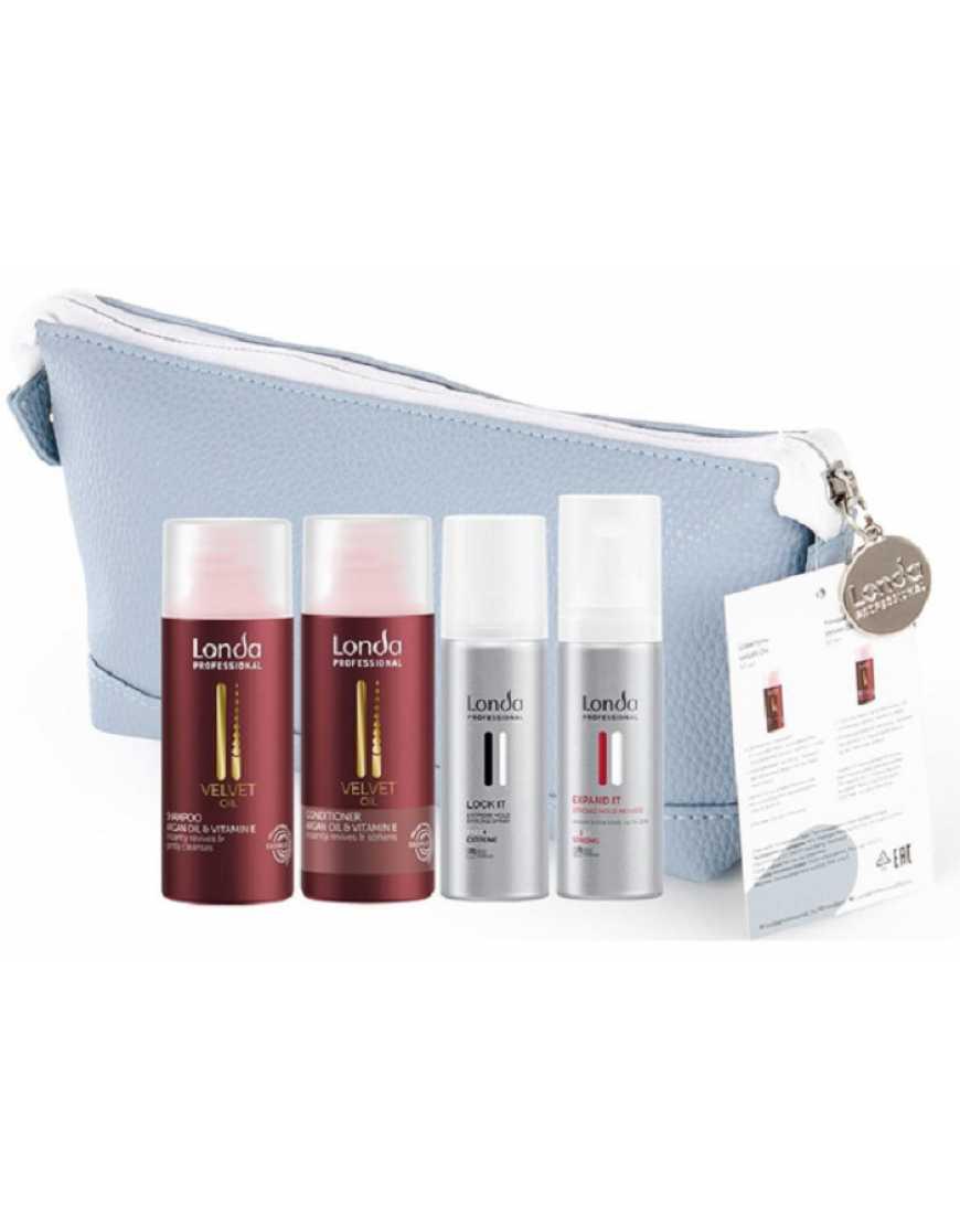 Дорожный набор Londa Professional Velvet Oil, шампунь  кондиционер  лак  пена