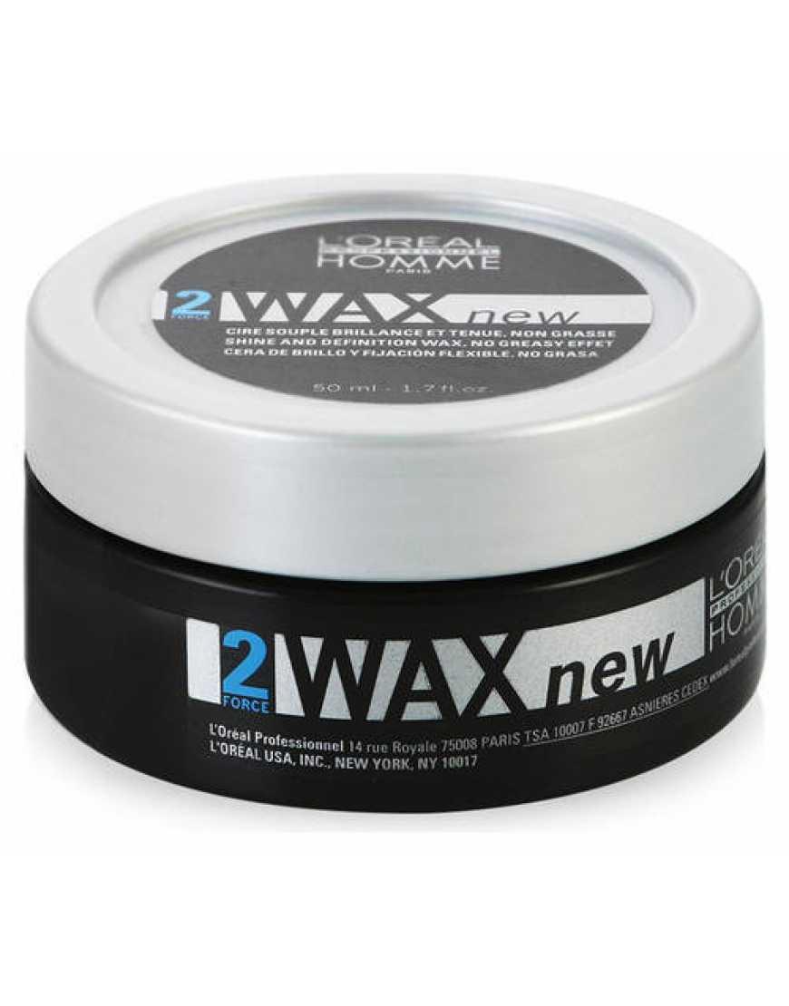 L'Oreal Professionnel Homme Wax Воск моделирующий для фиксации и блеска волос, 50 мл