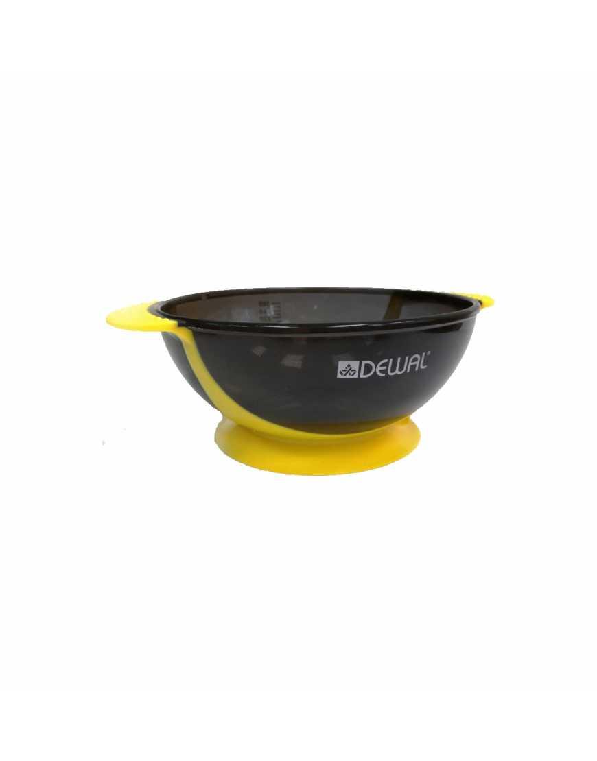 Чаша для краски Dewal Т-18yellow, желтая, с двумя ручками с прорезиненной вставкой 300 мл