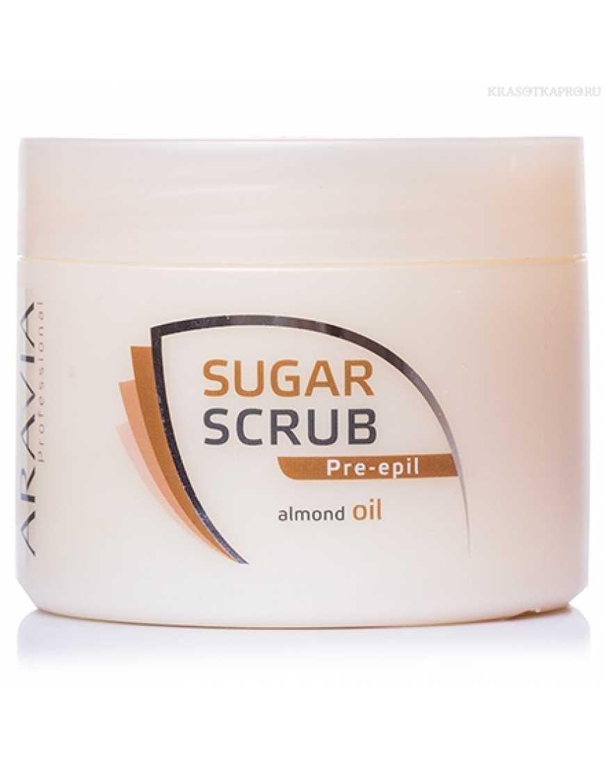 Aravia Professional Скраб сахарный для тела с маслом миндаля, 300 мл
