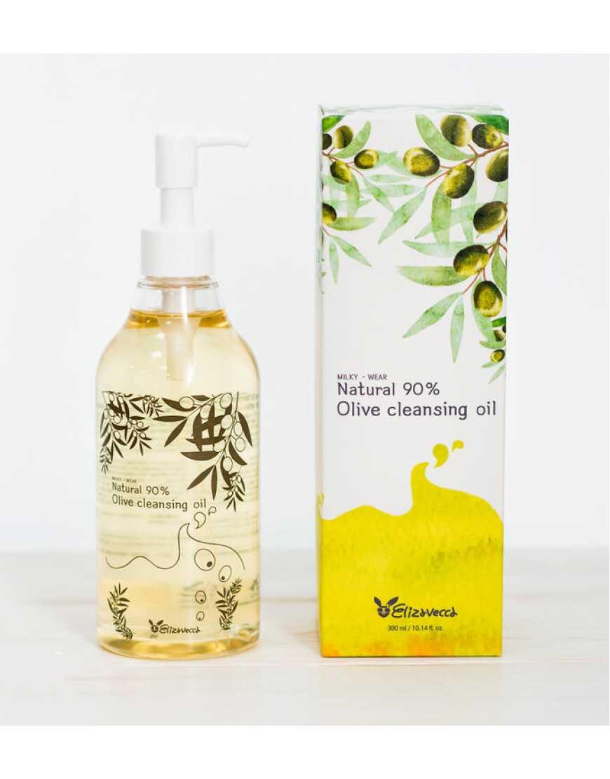 Elizavecca Гидрофильное масло с маслом оливы Natural 90% Olive Cleansing Oil, 300 мл