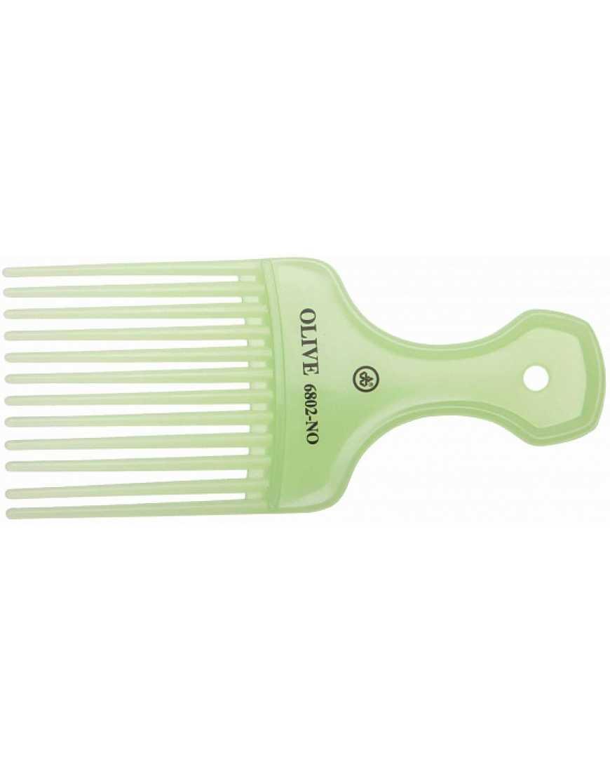 Гребень для волос Dewal CО-6802-Olive моделирующий