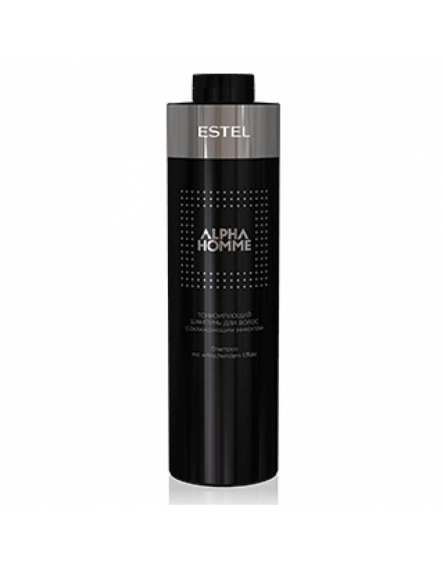 ESTEL Тонизирующий шампунь с охлаждающим эффектом для волос и тела Alpha Homme 1000 мл