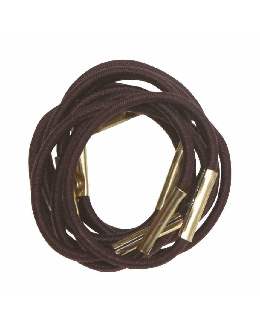 Резинки для волос DEWAL RE022 коричневые, maxi (10 шт)