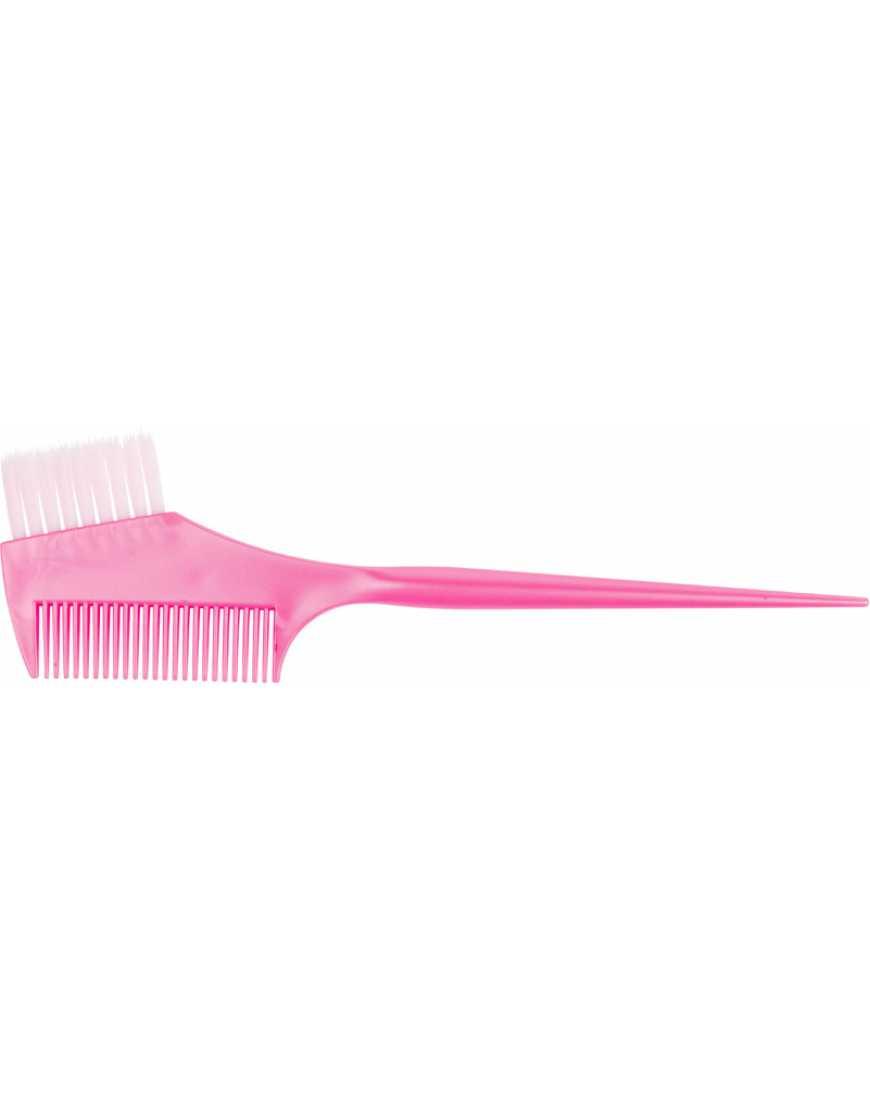 Кисть JPP049-1 pink д/окраски   расческа с белой щетиной