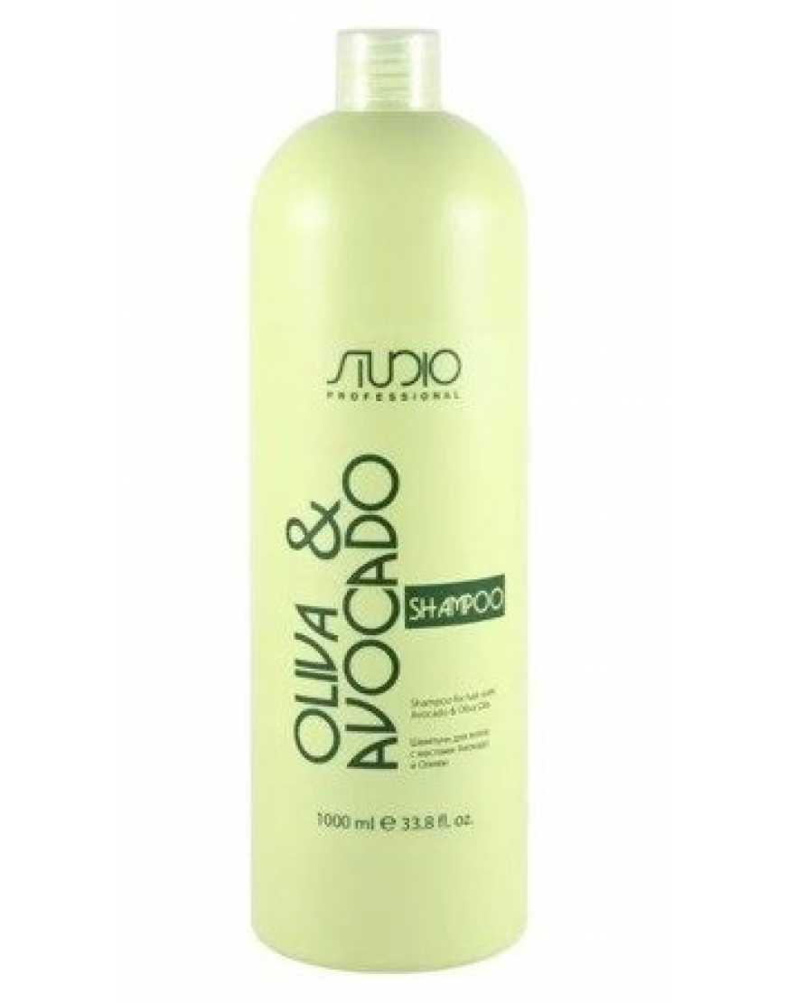 Kapous Professional Шампунь для волос с маслами авокадо и оливы линии, 1л