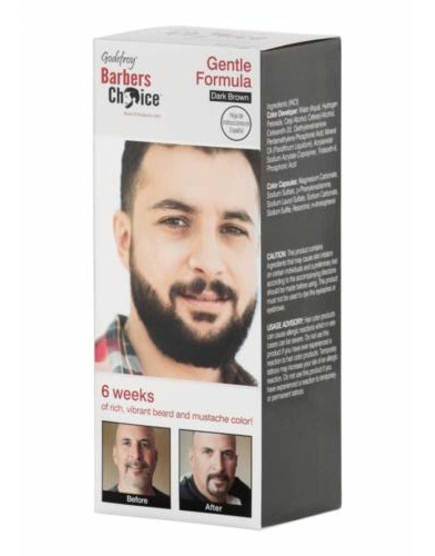 Камуфляж (краска) для бороды Godefroy Barbers Choice, темно-коричневая, 3 капсулы