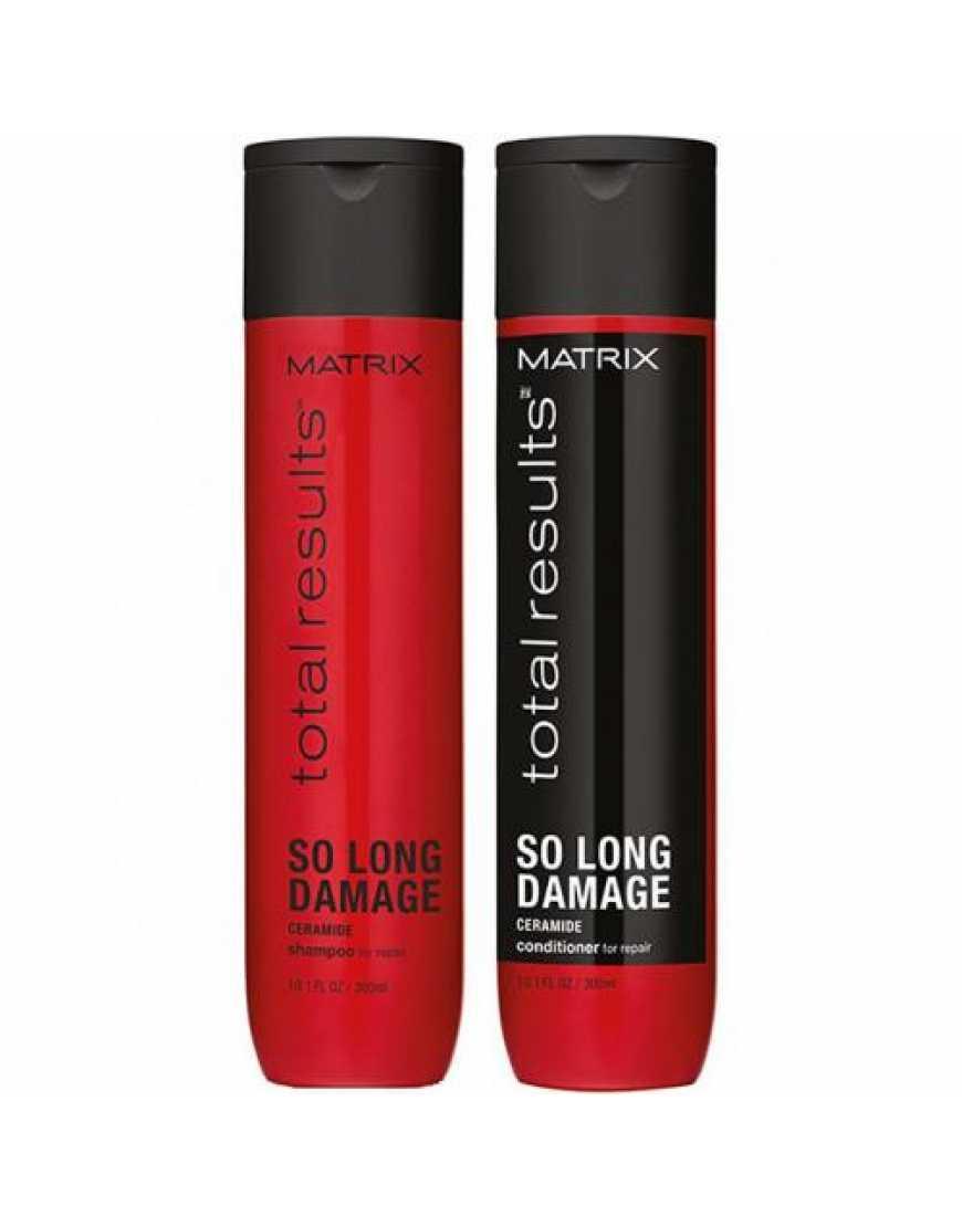 Набор MATRIX Total Results So Long Damage для поврежденных волос, шампунь, 300 мл   кондиционер, 300