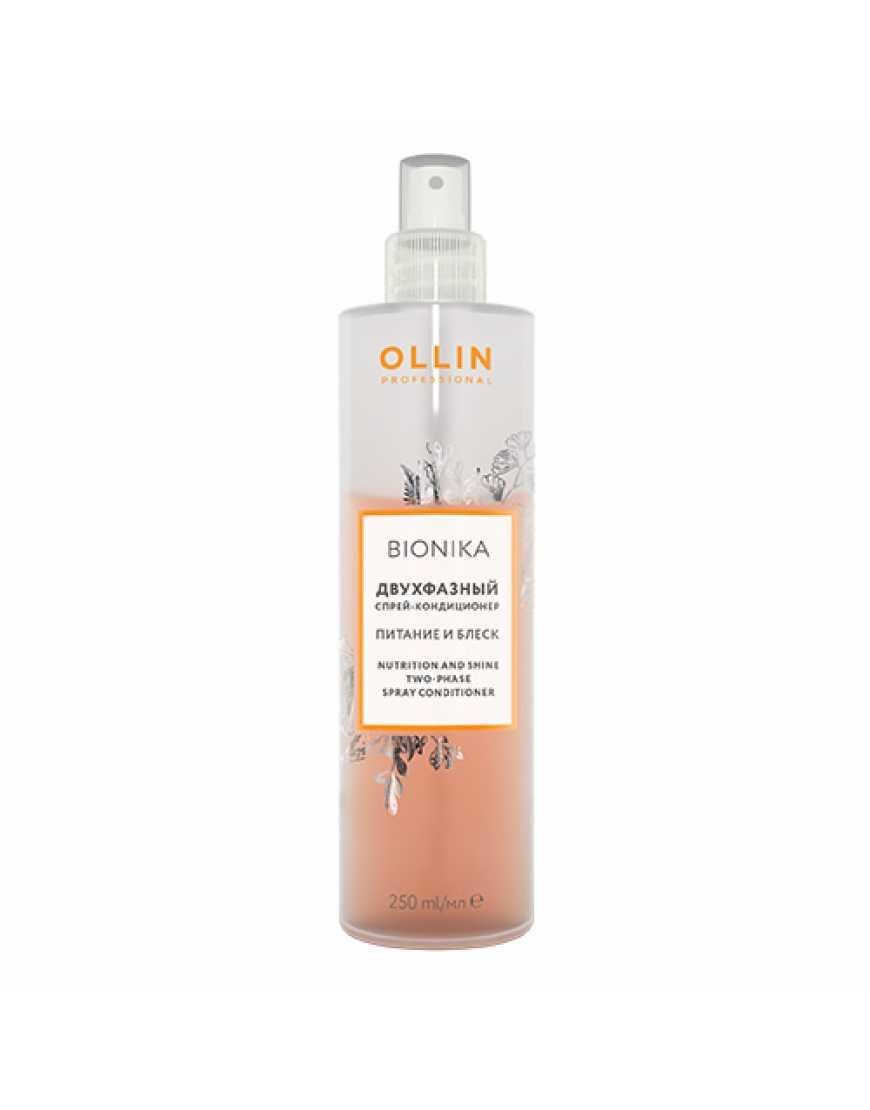OLLIN Professional Bionika Двухфазный спрей-кондиционер для волос Питание и блеск, 250 мл