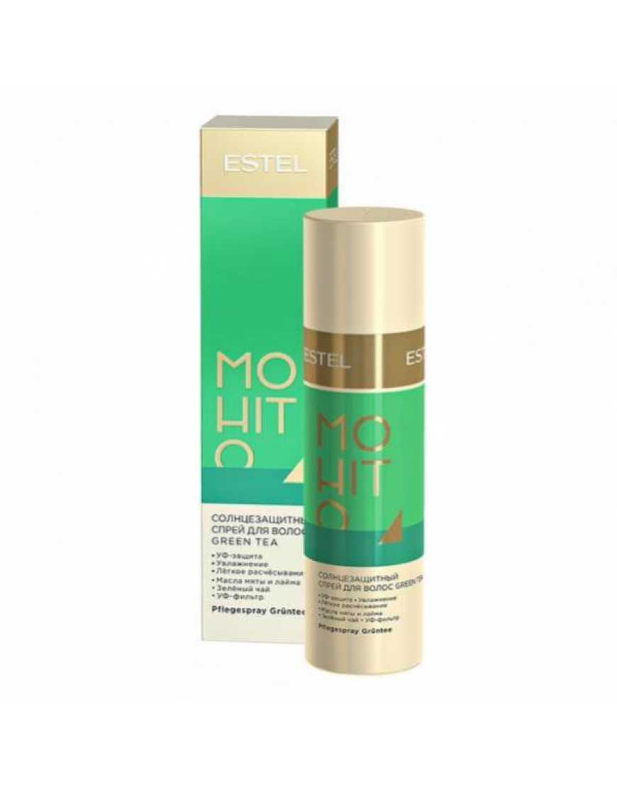 ESTEL MOHITO Солнцезащитный спрей для волос Зелёный чай, 100 мл