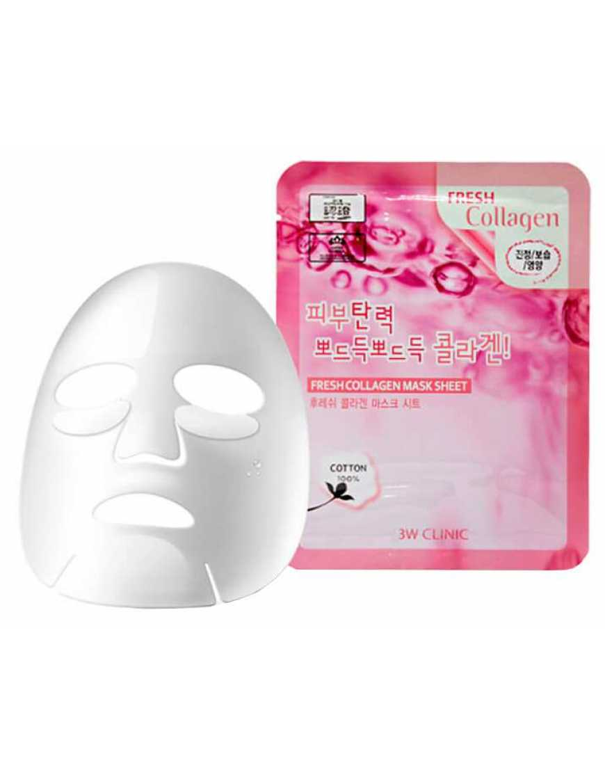 Tканевая маска для лица 3W CLINIC Fresh Collagen Mask Sheet коллаген, 23 мл