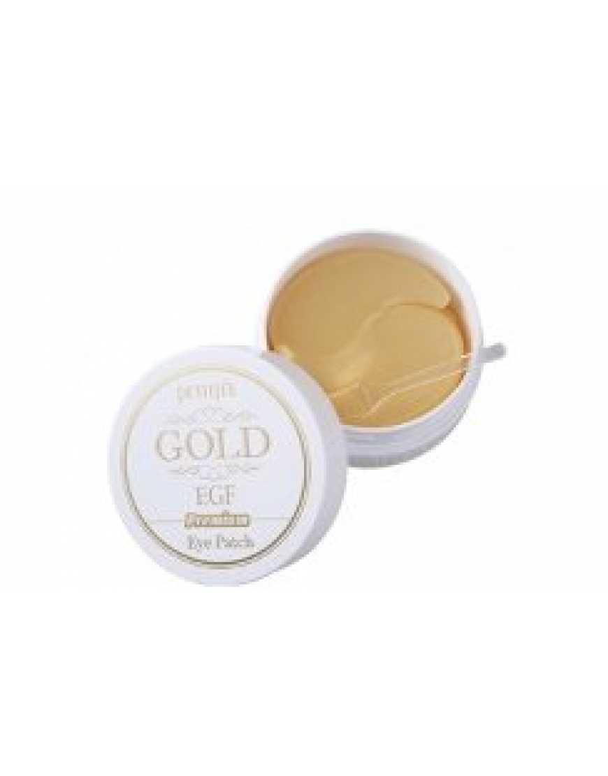 PETITFEE Premium Gold & EGF Hydrogel Eye Patch Гидрогелевые патчи для глаз Премиум золото, 60 шт