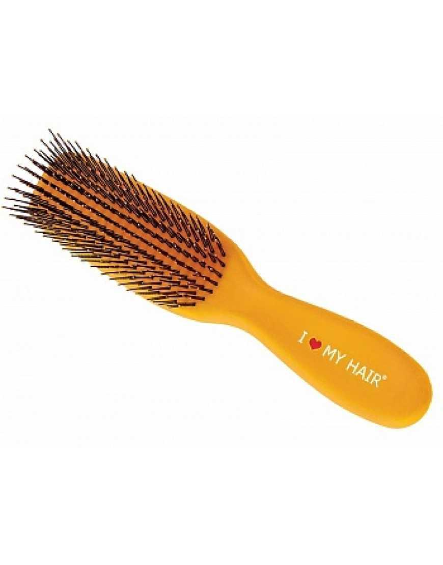Щетка Spider микро желтая I love my hair 1503 глянцевая