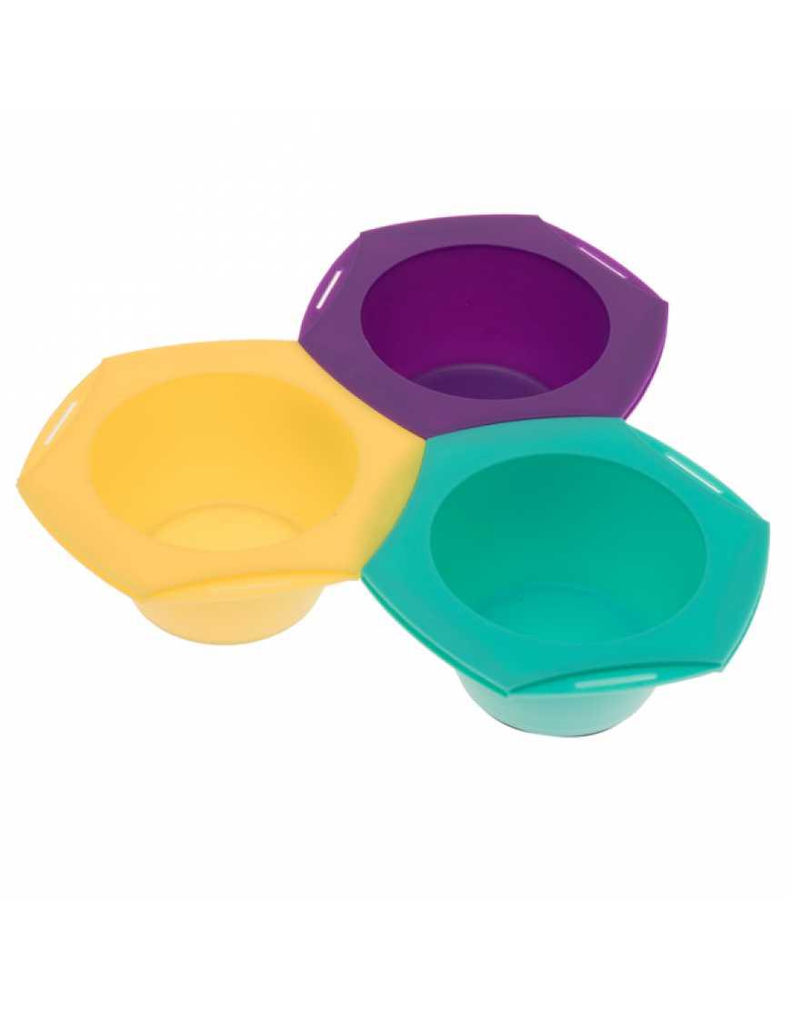 Набор для колориста из 3 цветных мисок harizma 10960, 250мм