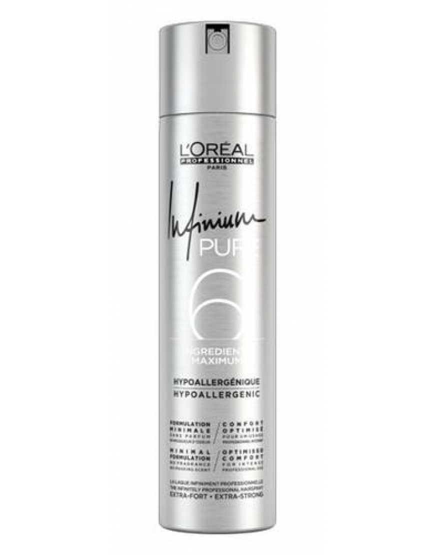 L'Oreal Professionnel Infinium Pure Extra Strong Лак для волос, без запаха, сверхсильная фиксация, 300 мл