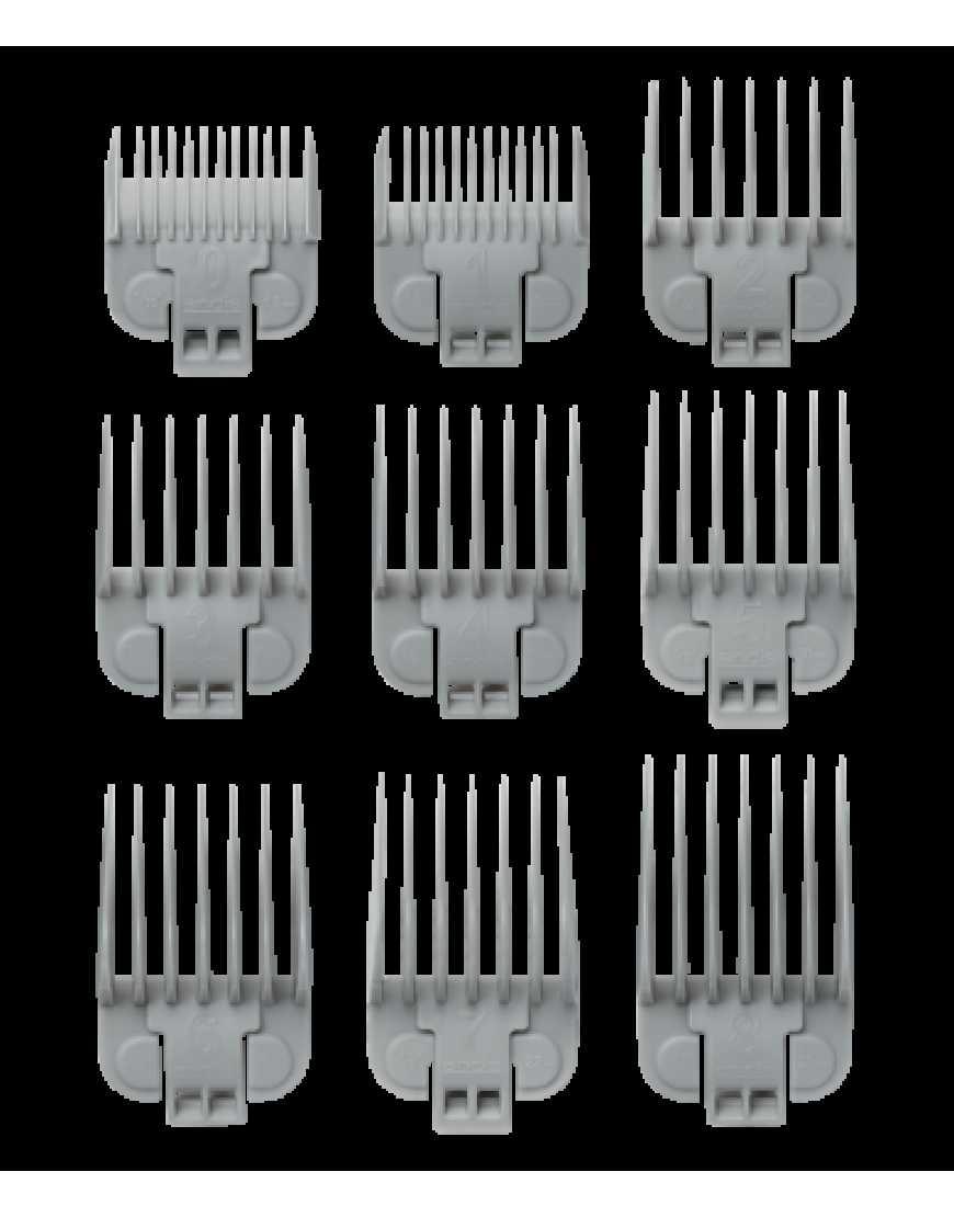 Набор насадок Andis US-1 в комплекте 9 шт