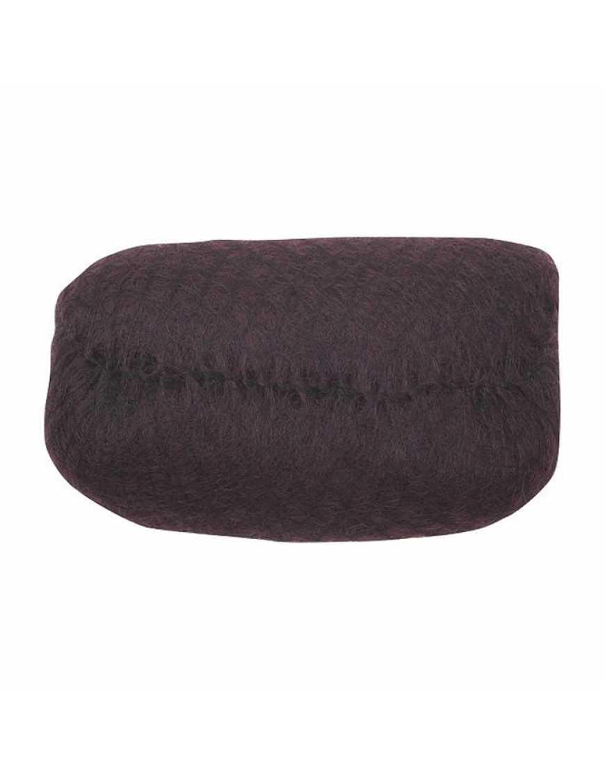 Валик НО-PC Dark brown овальный темно-коричневый, исскуственный волос сетка 18х11см