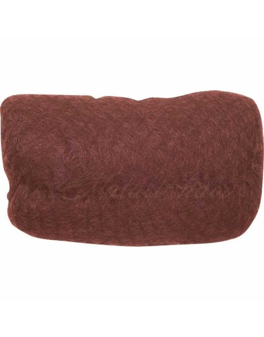 Валик НО-PC Red  brown овальный рыжий, искуственныйьволос сетка 18*11см