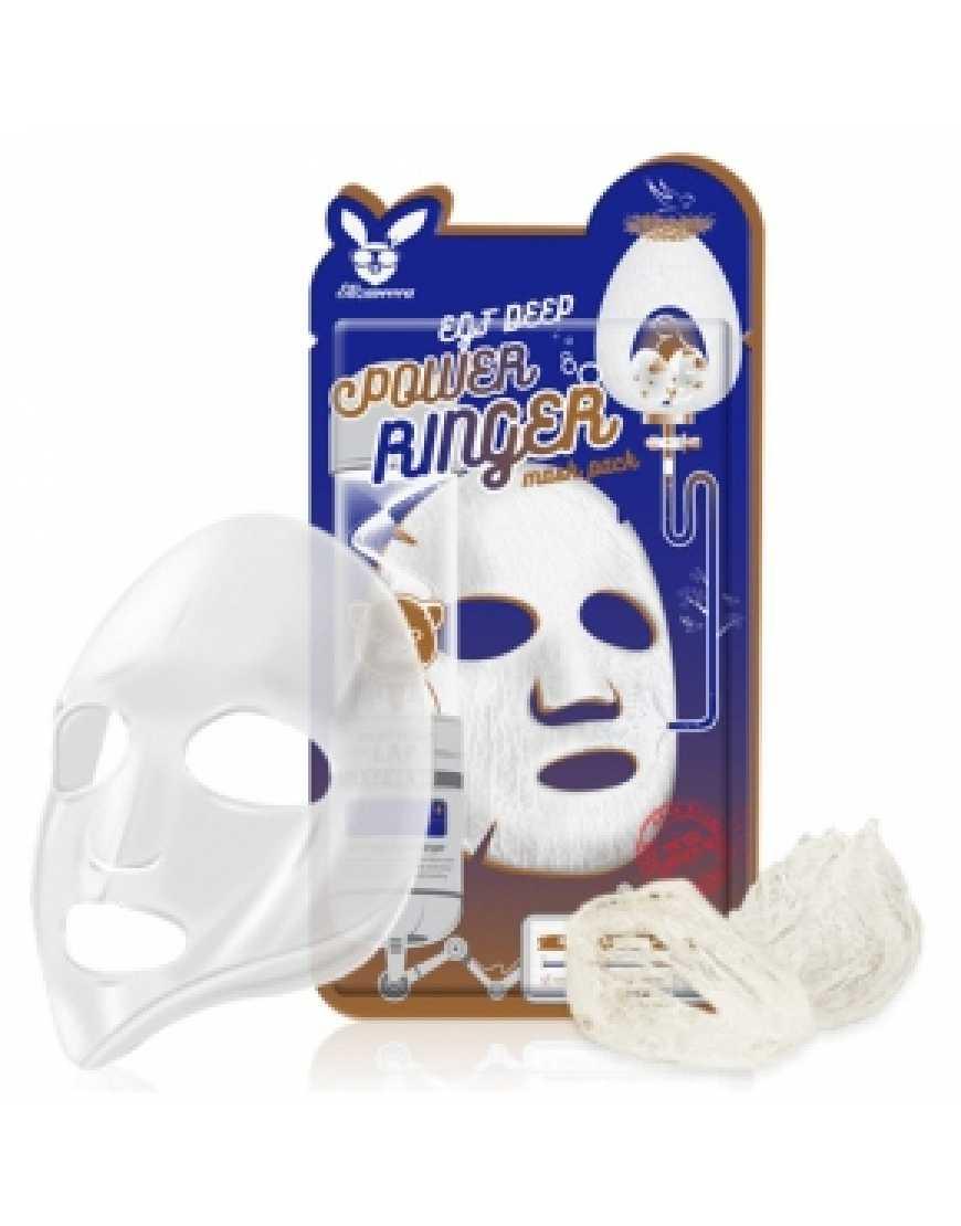 Elizavecca Тканевая маска для лица с эпидермальным фактор EGF Deep Power Ringer mask pack, 23 мл