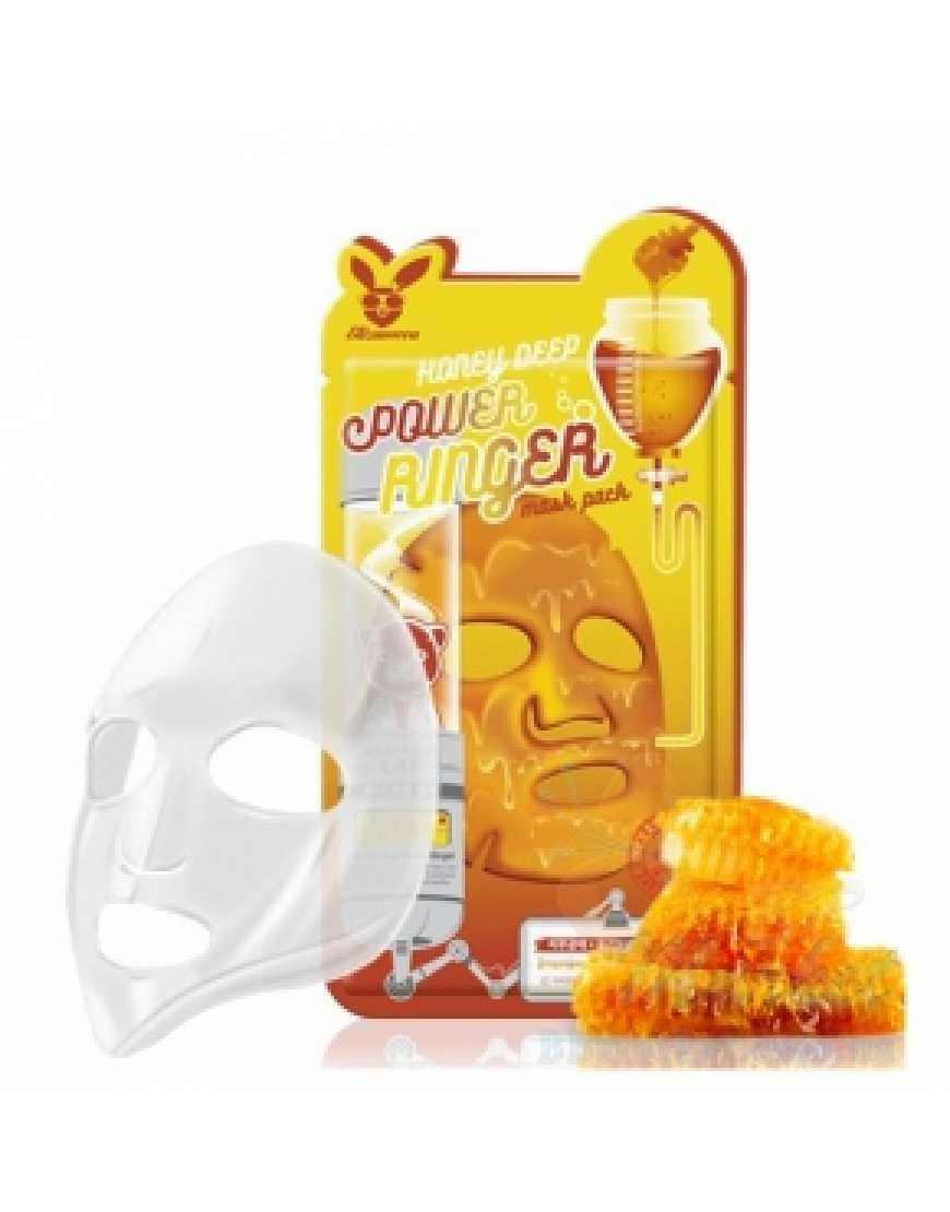 Elizavecca Тканевая маска для лица медовая Honey Deep Power Ringer mask pack, 23 мл