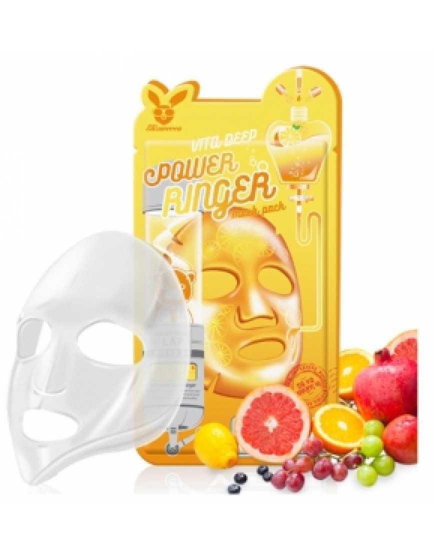 Elizavecca Тканевая маска для лица с витаминами Vita Deep Power Ringer mask pack, 23 мл