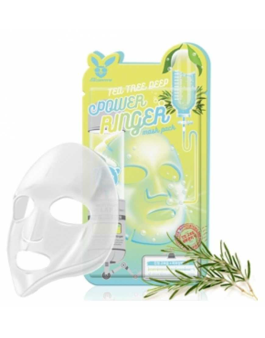 Elizavecca Тканевая маска для лица Чайное Дерево Tea Tree Deep Power Ringer mask pack, 23 мл
