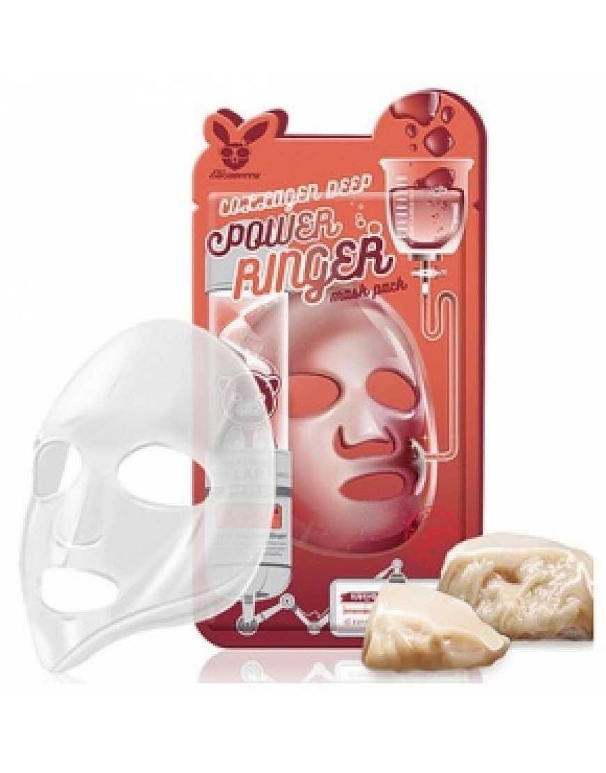 Elizavecca Тканевая маска для лица с Коллагеном Collagen Deep Power Ringer mask pack, 23 мл