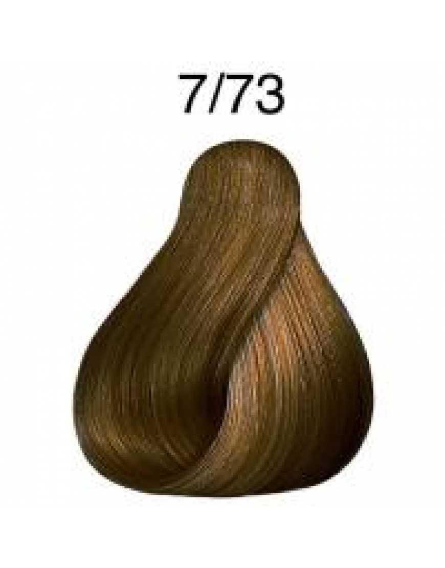 Крем-краска Londa Color интенсивное тонирование для волос, блонд коричнево-золотистый 7/73