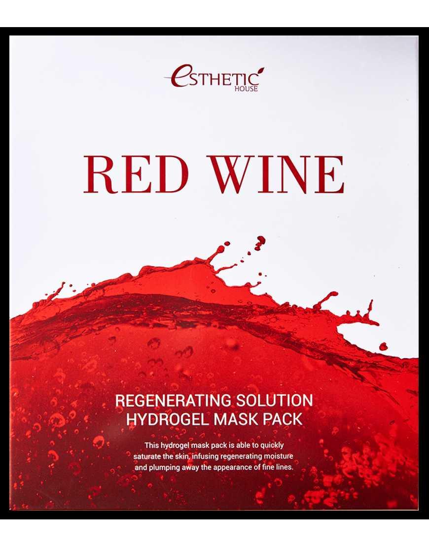 Esthetic House Гидрогелевая маска для лица c экстрактом Красного Вина Red Wine regenerating solution hydrogel mask pask