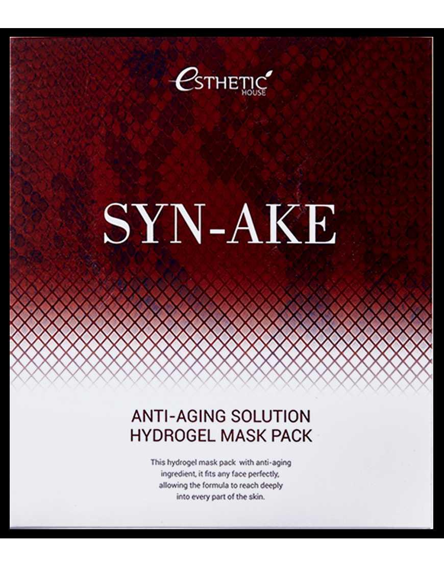 Esthetic House Гидрогелевая маска для лица c Ботокс-эффектом Syn-Ake Anti-Aging solution hydrogel mask pask