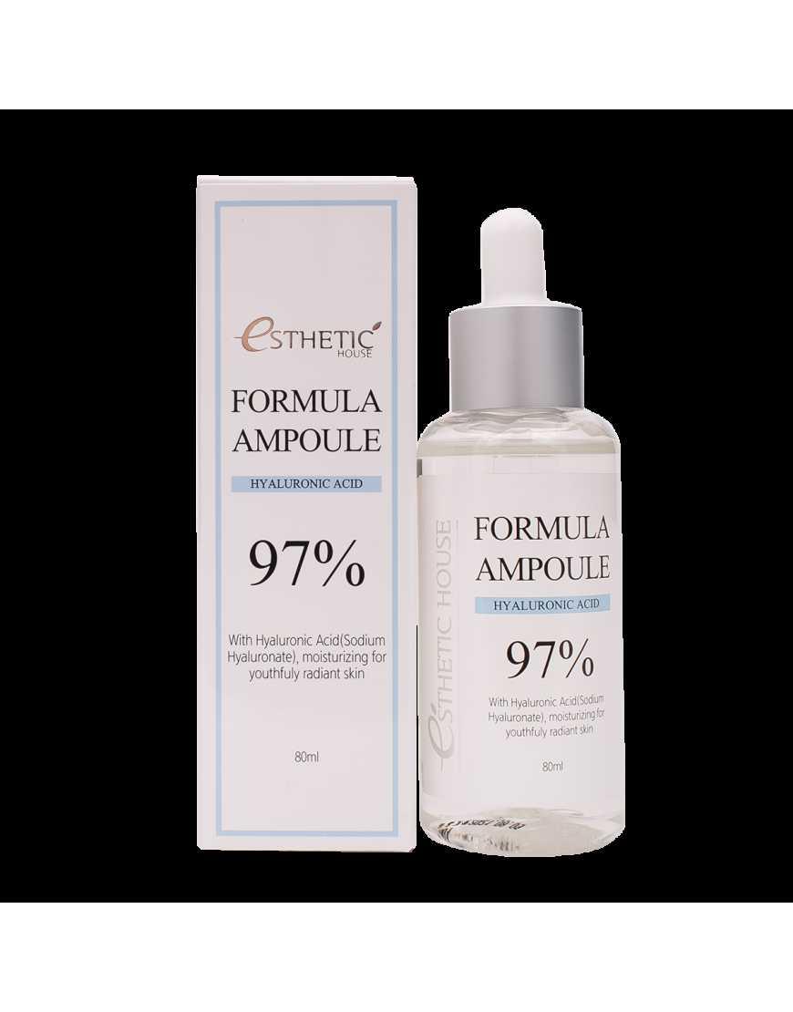 Esthetic House Сыворотка для лица с улиткой Formula Ampoule Hyaluronic Acid, 80 мл