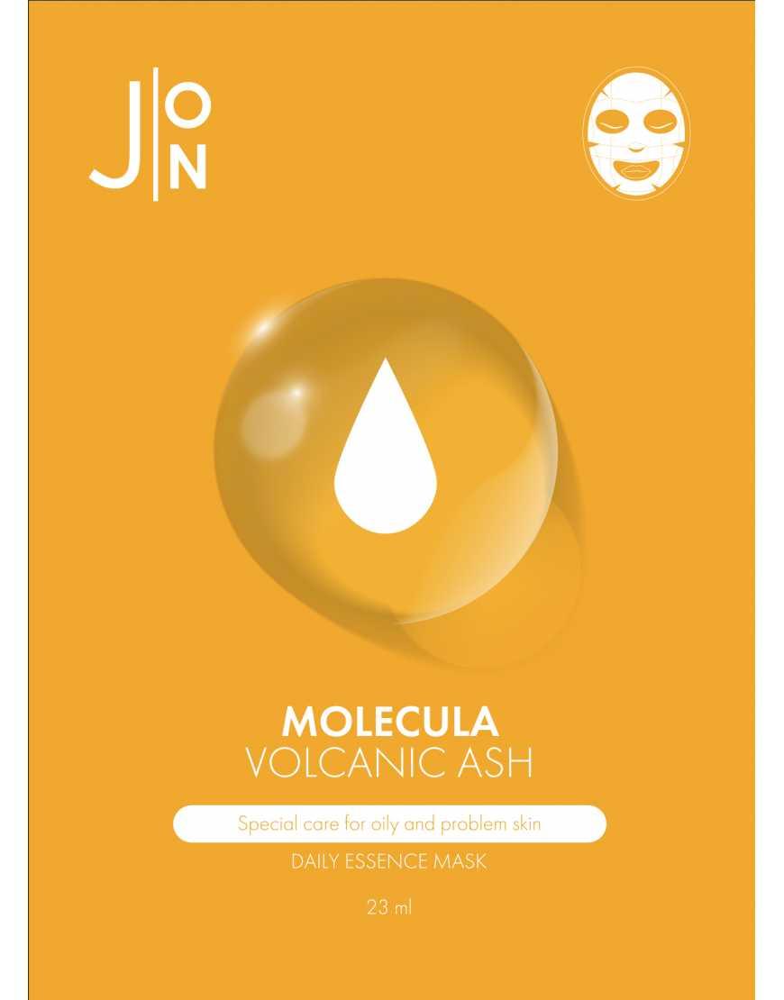 J:ON Тканевая маска для лица Вулканический пепел Molekula Volkanic Daily Essence Mask 23 мл