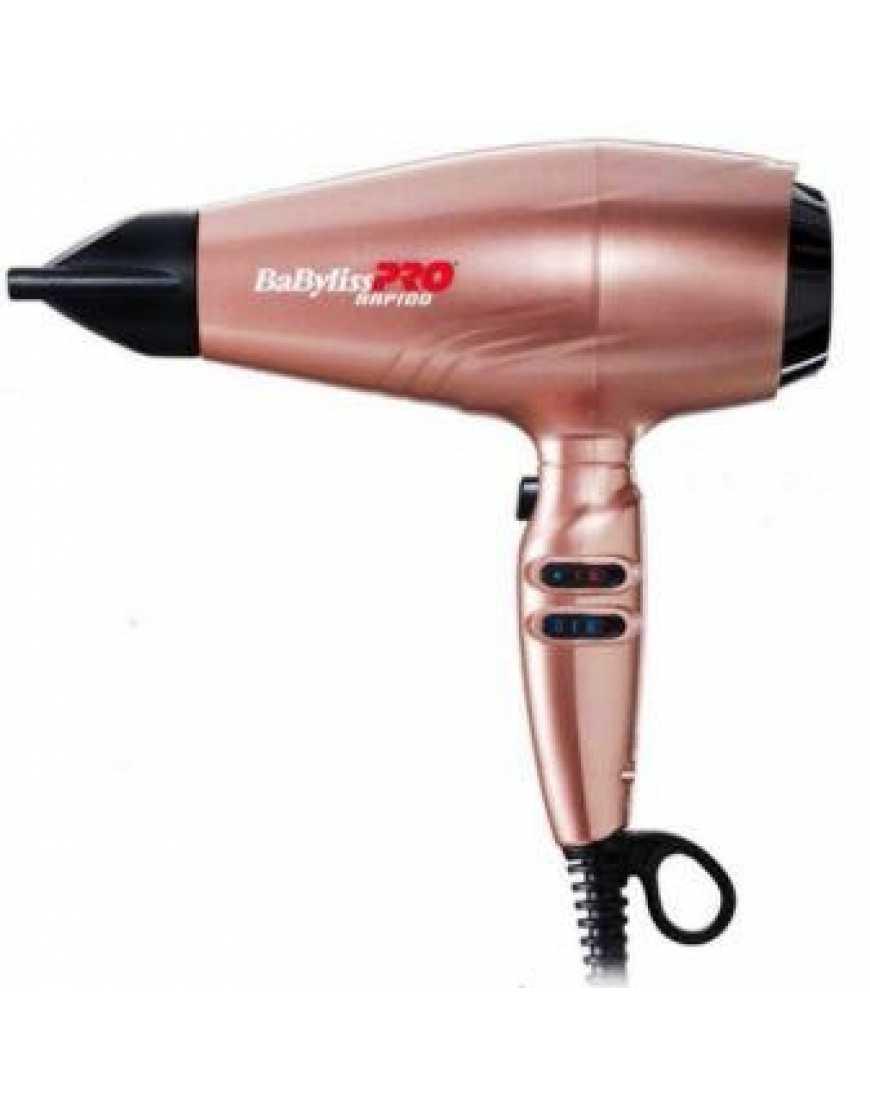 Фен BaByliss Pro Rapido BAB7000IRGE 2200 Вт, розовое золото