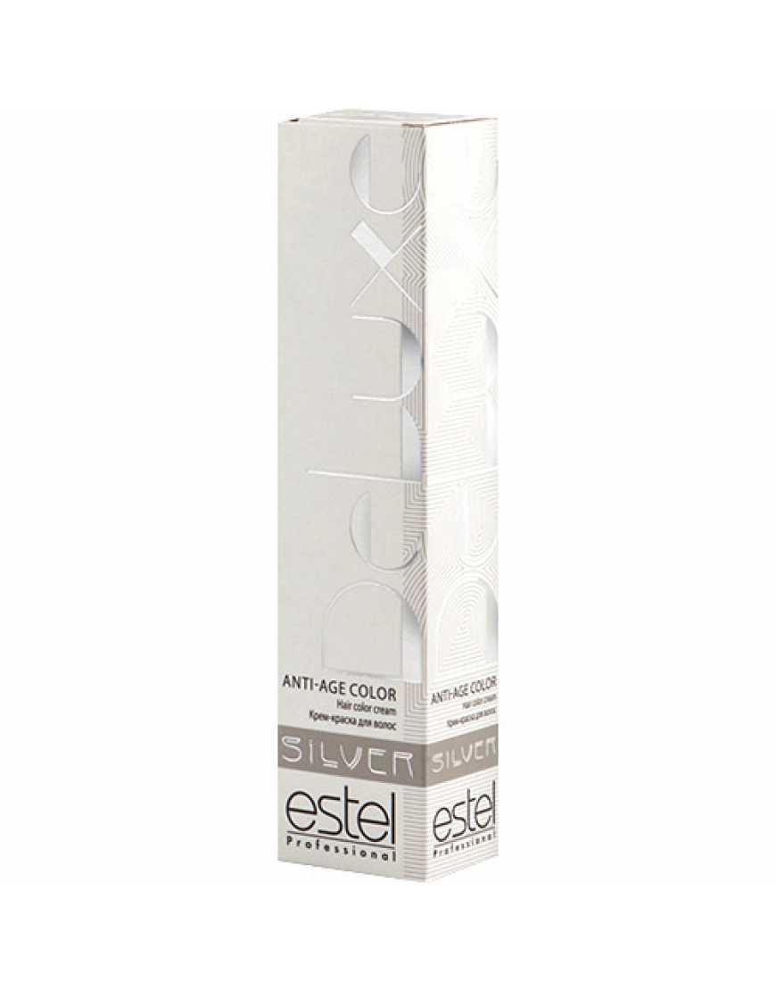 Estel Крем-краска для волос 5/71 DeLux Silver, светлый шатен коричнево-пепельный 60 мл
