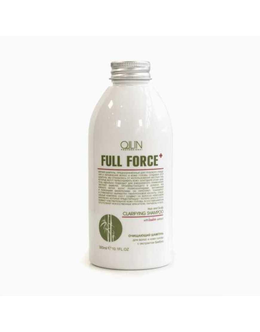 OLLIN Professional Full Force Шампунь очищающий для волос и кожи головы с экстрактом бамбука, 300 мл