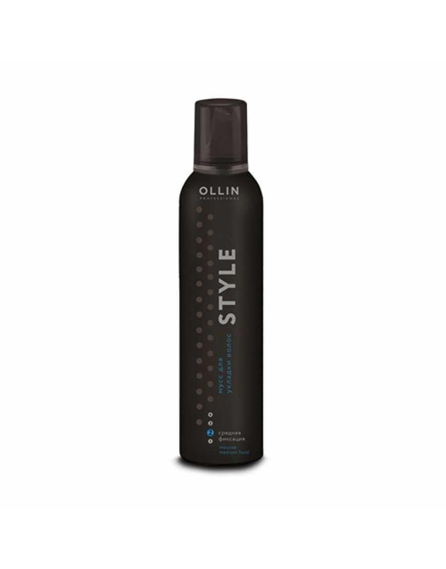 OLLIN Professional STYLE Мусс для укладки волос средней фиксации, 250 мл