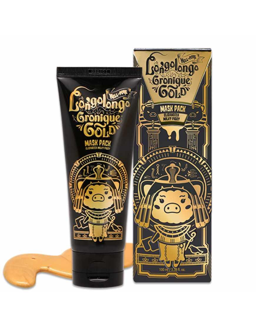 Elizavecca Маска-пленка Золотая Hell-pore longolongo gronique gold mask pack, 100 мл