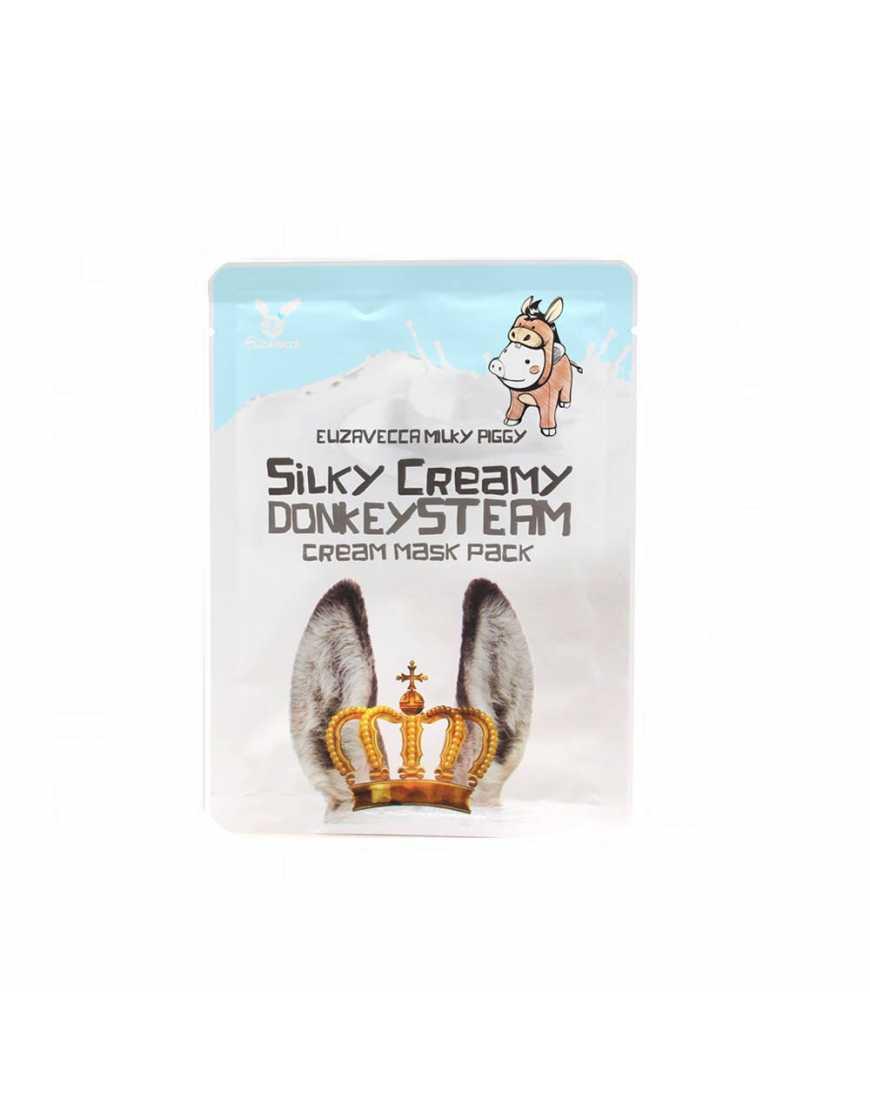 Elizavecca Тканевая маска для лица Ослиное молоко Silky Creamy donkey Steam Cream, 25 мл
