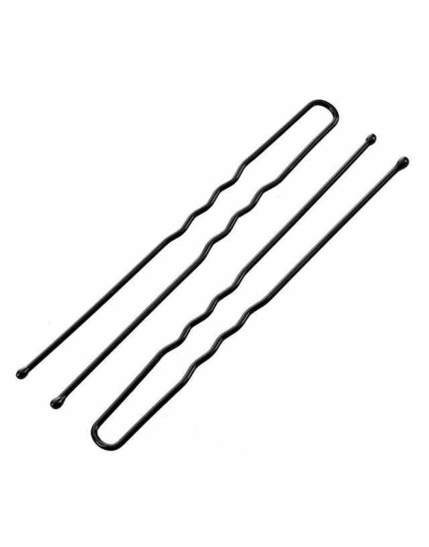 Шпильки Mark Shmidt чёрные, волна 70 мм, 40 шт