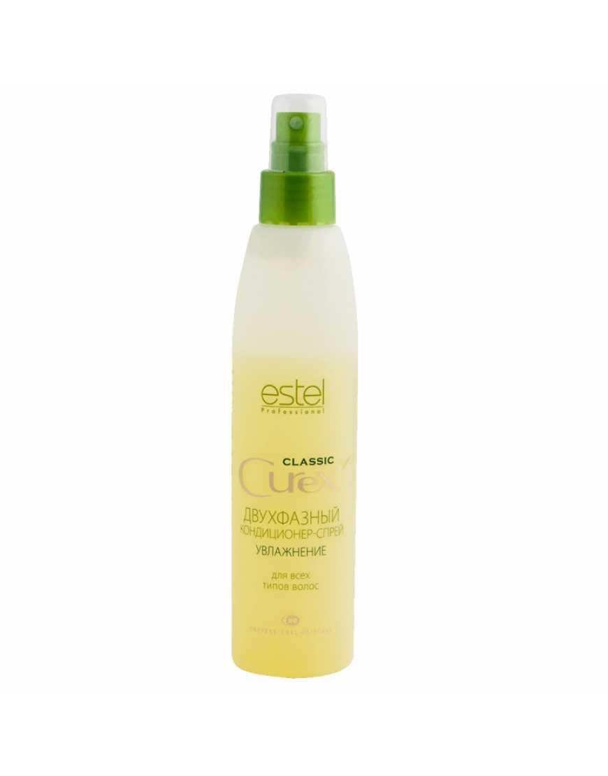 ESTEL CUREX classik Двухфазный кондиционер-спрей увлажняющий для всех типов волос, 200 мл