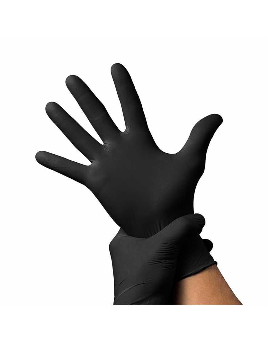 Перчатки нитриловые BENOVY, р-р M, черные 1уп/ 50 пар