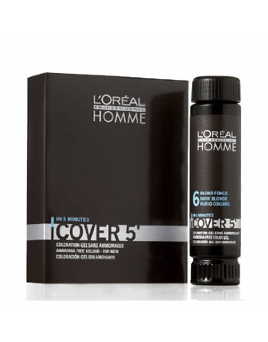 L'Oreal Professionnel Homme Кавер 5' N 6 Гель тонирующий, Темный блондин, 50 мл