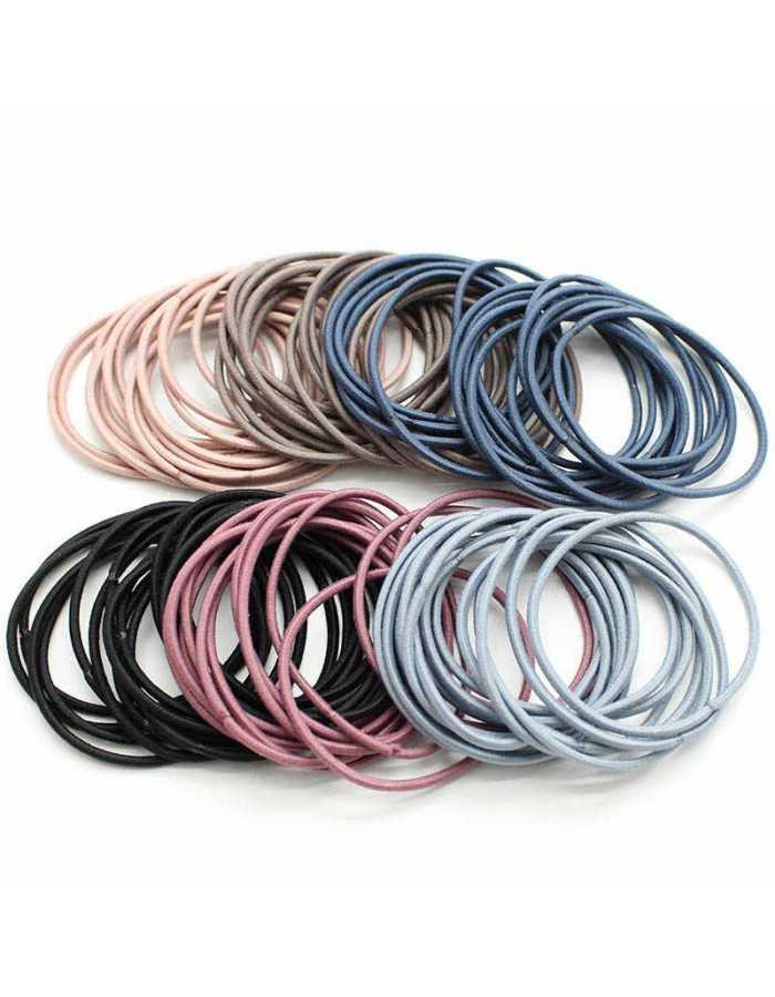 Резинки для волос Melon Pro MP2454 цветные, 50 шт