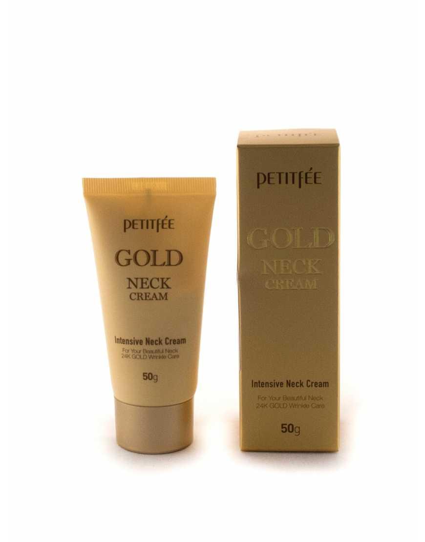 Petitfee Крем для шеи антивозрастной GOLD INTENSIVE NECK CREAM, 50 гр
