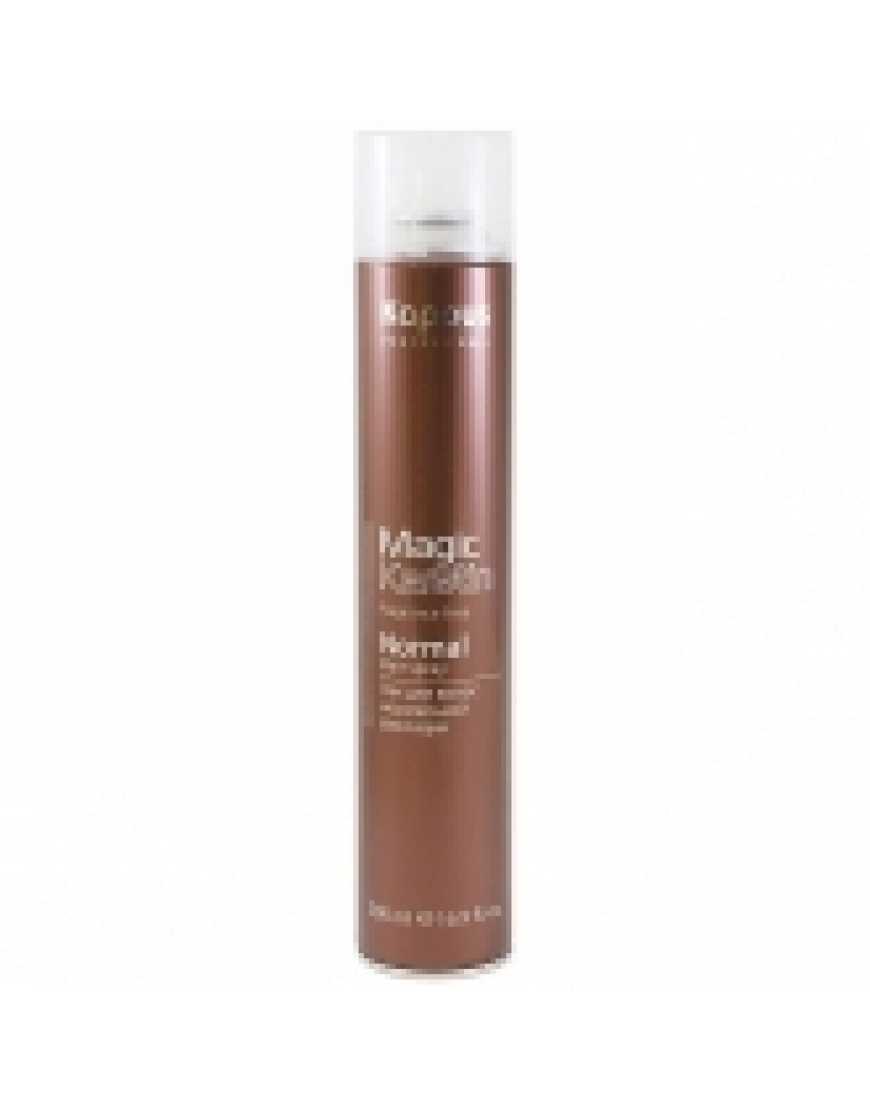 Kapous Professional Лак аэрозольный для волос нормальной фиксации с кератином 500 мл